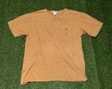 Men's Vintage Yves Saint Laurent Mustard Yellow Pocket T-shirt Size XL