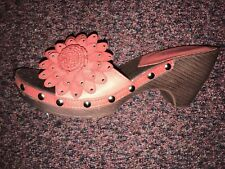 Ladies Wedge Red Sandals Size 5