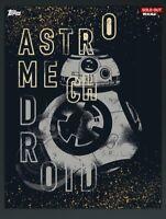 digital BB-8 DROID star wars ONE-OF-A-KIND series TOPPS card trader 403cc tfa