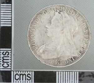 GREAT BRITAIN VICTORIA Old Veil Head Silver Florin Two SHILLINGS 2/- Coin 1900