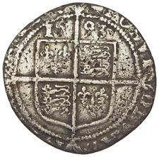 ENGLAND. Elizabeth I. 1558-1603. Silver Sixpence, Sixth Issue, 1593