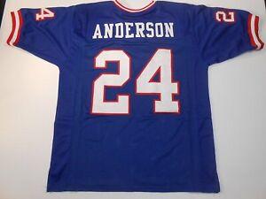 UNSIGNED CUSTOM Sewn Stitched Ottis Anderson Blue Jersey - M, L, XL, 2XL