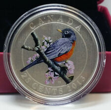 2013 Canada 25-Cent Coloured Coin - American Robin - By RCM
