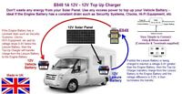 Motorhome 12v-12v 1A Top Up Battery Charger (E848) Don't waste your Solar Power