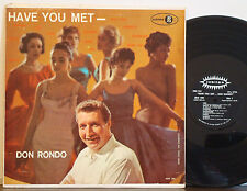 "DON RONDO-DAVE TERRY ORCH ""Have You Met?"" RARE 1958 DG JUBILEE MONO LP Sy Oliver"
