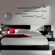 adesivo murale wall stickers frase adesivi senza parole vasco rossi amore a0000