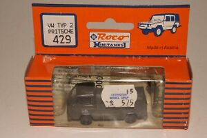ROCO MINITANKS #429 VOLKSWAGEN VW U.S. ARMY TRUCK, 1:87 HO SCALE, NEW IN BOX