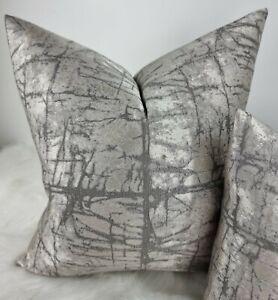 "Cushion Cover Silver Grey  18""x18"" John Lewis Handmade Kyla  Luxurious"