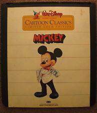 Vintage CED SelectaVision Walt Disney Cartoon Classics Mickey Gold Ed. VideoDisc