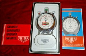 VINTAGE ALL ORIGINAL in box HEUER TRACKMASTER #8042 CHROME