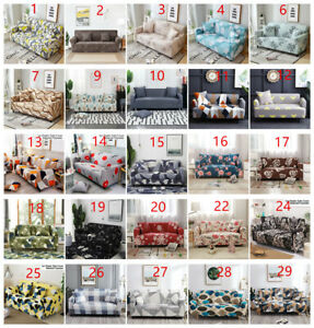 1 2 3 4 Seater Stretch Sofa Cover Couch Elastic Floral Slipcover Protector Home