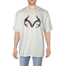 Realtree Mens Ivory Logo Short Sleeve Tee Graphic T-Shirt XXL BHFO 0081