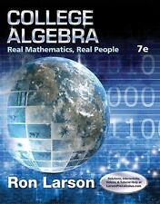 College Algebra: Real Mathematics, Real People by Larson, Ron