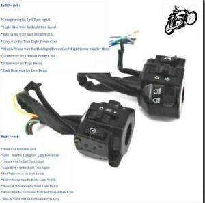 """7/8"""" 22mm Universal Motorcycle Right~Left Aluminum Alloy Control Switch"""