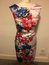 Monsoon Floral Knee Length Dress, Size 14, Excellent Condition