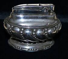 ANTIQUE COLLECTIBLE RONSON SILVER PLATE TABLE LIGHTER MADE IN USA