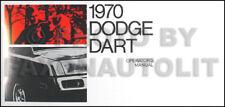 1970 Dodge Dart Owners Manual 70 Owner Operators Guide Book Swinger Custom 340