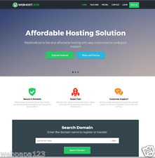 Automated Complete Web Hosting Business Website, Full Customizable
