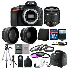 Nikon D5600 24.2 MP D-SLR Camera with 18-55mm AF-P Lens + 32GB Top Accessory Kit