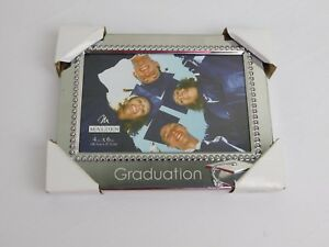 Malden International Designs Silver Tone Graduation Photo Frame 4 X 6 Inch #7001