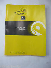 "John Deere 21"" 2-Cycle Walk Behind Rotary Mowers Operator'S Manual Original"