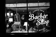 Wall Room Decor Art Vinyl Sticker Mural Decal Barber Shop Logo Sign Tools SA032