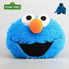 New Sesame Street Cookie Monster Head Plush Pillow Doll Soft Toy Throw Cushion