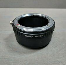 Fotasy Nikon Lens to Sony E-Mount NEX Camera NEX-5R NEX-5T NEX-6 NEX-7 a6500 ...