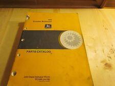 Parts Catalog for John Deere 850 Crawler Bulldozer Book # Pc1885
