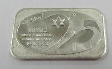 Scarce 1973 Israel 25th Anniversary 1 oz. .999 Fine Silver Bar