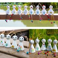 Hanging Porcelain Wind Chimes Outdoor Bells Garden Home Decoration Sunny Dolls