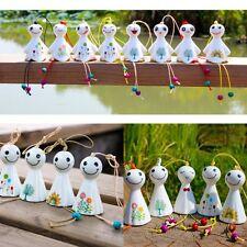 Hanging Porcelain Wind Chimes Outdoor Bells Garden Home Decoration Sunny Dolls