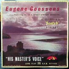 "GOOSSENS mendelssohn symphony no. 3 scotch 10"" VG BLP 1045 Mono UK HMV 1950's"