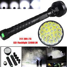 24 x CREE XM-L T6 LED 5 Modes 32000Lm Torch 26650/18650 Lamp Tactical Flashlight