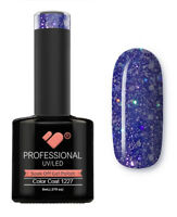 1227 VB™ Line Dark Blue Silver Glitter - UV/LED soak off gel nail polish