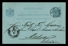 DR WHO 1893 NETHERLANDS AMSTERDAM POSTAL CARD STATIONERY C187807
