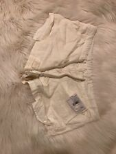 FREE PEOPLE NWT Beach linen/cotton Drawstring Shorts M C38