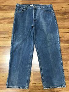 MENS 40 x 28 - Carhartt B160 Unlined Denim Work Jeans Pants