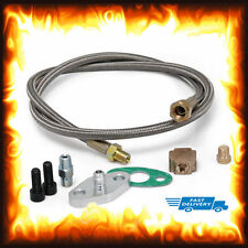 T3 T4 T3/T4 T70 T66 T04E universal turbo turbocompresseur oil feed line kit d'adaptateur