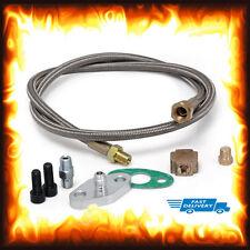 T3 T4 T3/T4 T70 T66 T04E Universal Turbo Turbocharger Oil Feed Line Adapter Kit