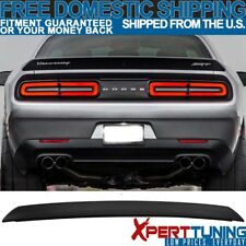 Fits 08-17 Dodge Challenger ABS SRT Style Rear Trunk Spoiler Wing Matte Black