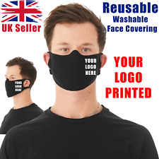 Face Mask Reusable Washable Personalised Print Custom Face Cover Mask Logo