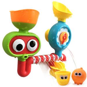 AU Cartoon Waterwheel Baby Shower Bath Toys Kids Children Summer Water Toy Gift