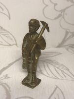 Vintage Brass Coal Miner/metal Figure/collectible Ornament