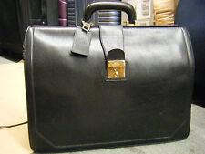 VTG Longchamp Leather Professional Doctor Lawyer Bag Large Paris France