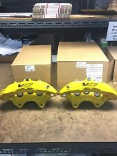 CTS-V CTSV Yellow 6 Piston Front Calipers Pair New GM 20982734 20982719 Cadillac