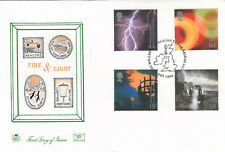 (85566) GB Stuart FDC Fire & Light Tower Bridge Millennium Beacon London 2000
