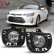 14-16 For Scion tC Clear Lens Pair Bumper OE Fog Light Lamp+Wiring+Switch Kit