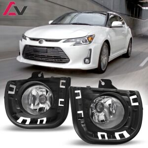 14-16 For Scion tC Clear Lens Pair Bumper Fog Light Lamp+Wiring+Switch Kit
