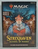 MAGIC THE GATHERING STRIXHAVEN School of Mages 15-Card Collector Booster Box MTG